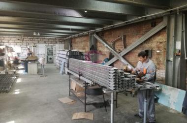 Участок алюминиевых конструкций